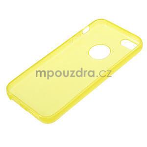 Gel-ultra slim puzdro pre iPhone 5, 5s- žlté - 3