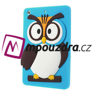 Silikonové puzdro na iPad mini 2 - modrá sova - 3