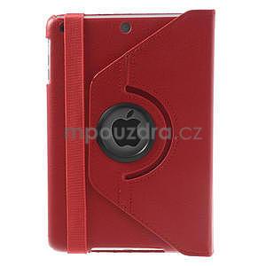 PU kožené 360° puzdro pre iPad mini- červené - 3