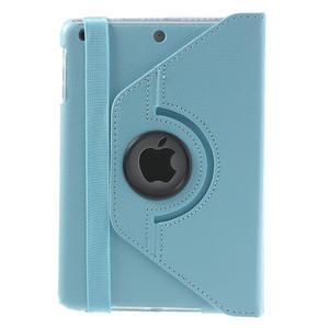 PU kožené 360° puzdro pre iPad mini- modré - 3