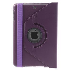 PU kožené 360° puzdro pre iPad mini- fialové - 3