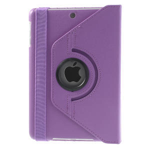 PU kožené 360° puzdro pre iPad mini- svetlefialové - 3