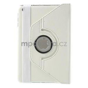 PU kožené 360° puzdro pre iPad mini- biele - 3