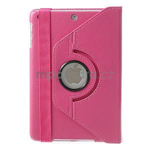 PU kožené 360° puzdro pre iPad mini- růžové - 3