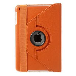 PU kožené 360° puzdro pre iPad mini- oranžové - 3