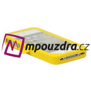 silikónový Tučniak na iPhone 4 4S - žltý - 3