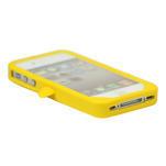 silikónový Tučniak na iPhone 4 4S - žltý - 3/3