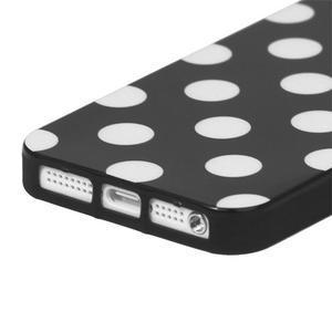 Gélové PUNTÍK puzdro pre iPhone 5, 5s- čierny - 3