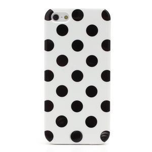 Gélové PUNTÍK puzdro pre iPhone 5, 5s- biele - 3
