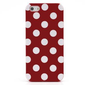 Gélové PUNTÍK puzdro pre iPhone 5, 5s- červené - 3