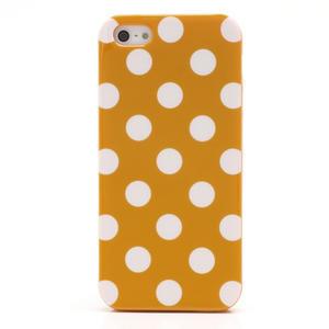 Gélové PUNTÍK puzdro pre iPhone 5, 5s- oranžové - 3