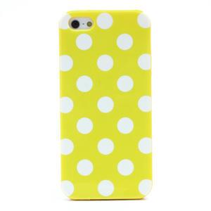 Gélové PUNTÍK puzdro pre iPhone 5, 5s- žlté - 3