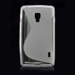 Gélové S-line puzdro pre LG Optimus L7 II P710- šedé - 3/4
