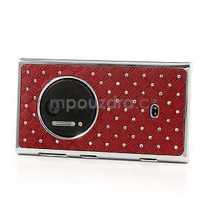 Drahokamové puzdro pre Nokia Lumia 1020- červené - 3