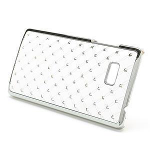 Drahokamové puzdro pre HTC Desire 600- biele - 3