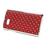 Drahokamové puzdro pre HTC Desire 600- červené - 3/5