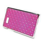 Drahokamové puzdro pre HTC Desire 600- ružové - 3/5