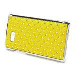 Drahokamové puzdro pre HTC Desire 600 -žlté - 3/5