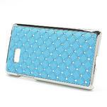 Drahokamové puzdro pre HTC Desire 600- svetlo modré - 3/5