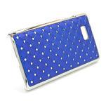 Drahokamové puzdro pre HTC Desire 600- modré - 3/5