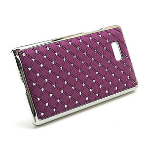 Drahokamové puzdro pre HTC Desire 600- fialové - 3