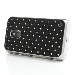 Drahokamové puzdro na Nokia Lumia 620- čierné - 3