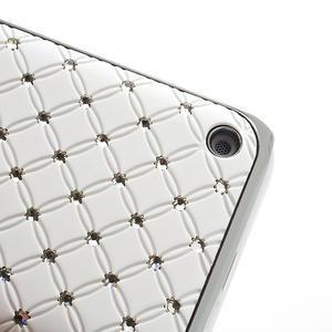Drahokamové puzdro na Nokia Lumia 620- biele - 3