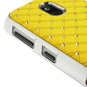 Drahokamové puzdro na Nokia Lumia 620- žlté - 3