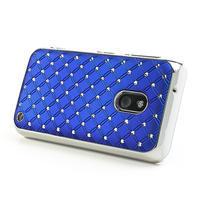 Drahokamové puzdro na Nokia Lumia 620- modré - 3/4