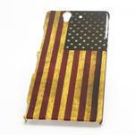 Plastové puzdro pre Sony Xperia Z L36i C6603- Americká vlajka - 3/5