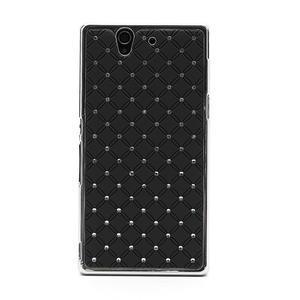 Drahokamovej puzdro pre Sony Xperia Z L36i C6603- čierné - 3