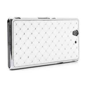 Drahokamové puzdro na Sony Xperia Z L36i C6603- biele - 3
