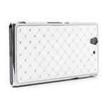 Drahokamové puzdro na Sony Xperia Z L36i C6603- biele - 3/7