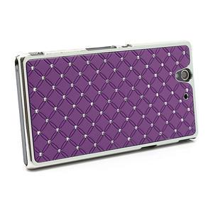 Drahokamové puzdro na Sony Xperia Z L36i C6603- fialové - 3