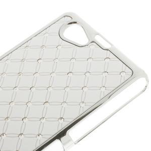 Drahokamovej puzdro pre Sony Xperia Z1 Compact D5503- biele - 3