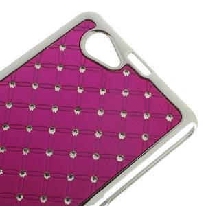 Drahokamové puzdro na Sony Xperia Z1 Compact D5503- růžové - 3