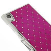 Drahokamovej puzdro pre Sony Xperia Z2 D6503- ružové - 3/5