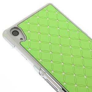 Drahokamovej puzdro pre Sony Xperia Z2 D6503- zelené - 3