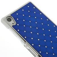 Drahokamovej puzdro pre Sony Xperia Z2 D6503- modré - 3/5