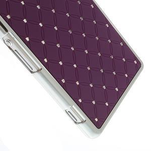 Drahokamovej puzdro pre Sony Xperia Z2 D6503- fialové - 3
