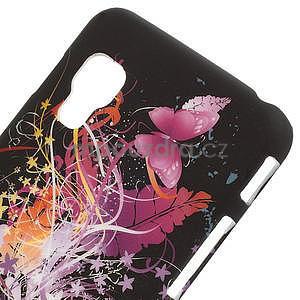 Plastové puzdro pre LG Optimus L5 Dual E455- Motýl a květ - 3