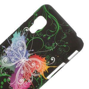 Plastové puzdro pre LG Optimus L5 Dual E455- vlající motýl - 3