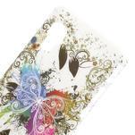 Plastové puzdro pre LG Optimus L5 Dual E455- motýl biele pozadí - 3/3