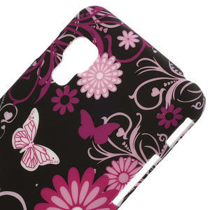 Plastové puzdro pre LG Optimus L5 Dual E455- motýlový květ - 3