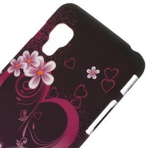 Plastové puzdro pre LG Optimus L5 Dual E455- květové srdce - 3