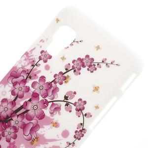 Plastové puzdro pre LG Optimus L5 Dual E455- kvitnúce vetvička - 3