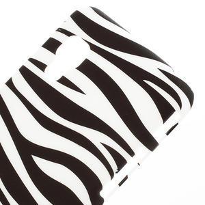 Plastové puzdro pre LG Optimus L5 Dual E455- zebra - 3