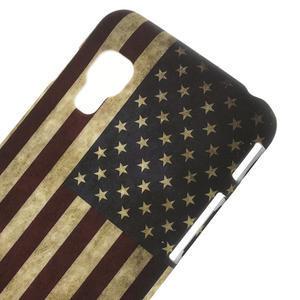 Plastové puzdro pre LG Optimus L5 Dual E455- USA vlajka - 3