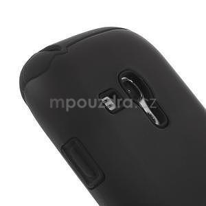 Čierné hybridný puzdro pre Samsung Galaxy S3 mini / i8190 - 3