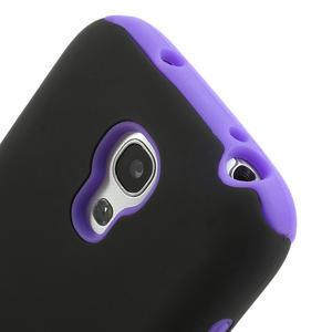 Hybridné puzdro pre Samsung Galaxy S4 mini i9190- fialové - 3